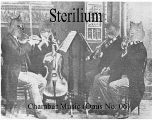 Sterilium - Chamber Music (Opus No. 06) - Front Cover