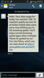 Globe Fair Use Policy Bullshit 01-30-2014